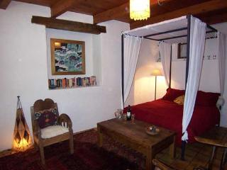 Romantic four poster bed in this huge suite in the oldest part of the house