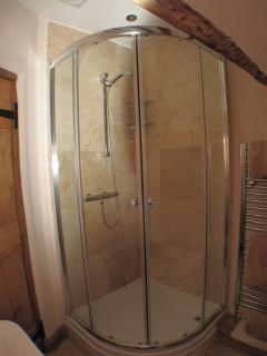 Luxury Ensuite powerful Mains Shower with 900x900 Quadrant Enclosure.