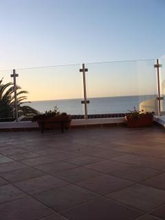 New extended balcony with 180 degree sea views.