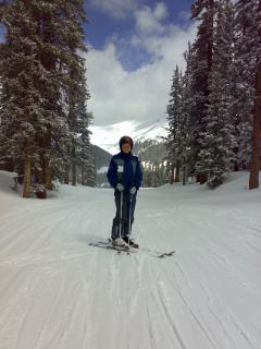 Big terrain choice. Easy trails for cruising or learning. Breckenridge also boasts a top ski school.