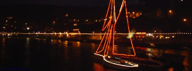 Looe Harbour at Christmas
