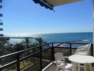 Skol 532 beachfront central top floor corner with pool, views and WIFI, Marbella