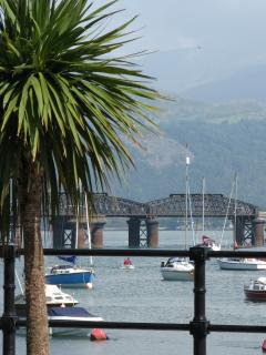 Barmouth harbour with Cader Idris backdrop