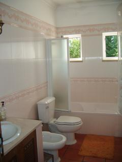 A bathroom with two windows !