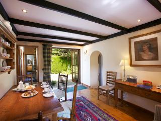 Dining Room Spacious with views of the courtyard garden