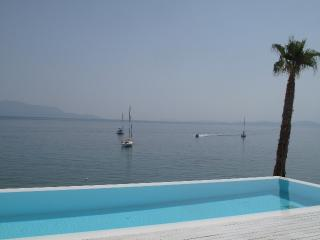 Luxury Beachfront Villa ATOKOS with views over the Ionian Islands, Palairos