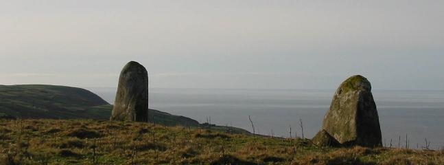 Standing stones above Llwyngwril