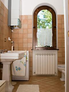 One bathroom.