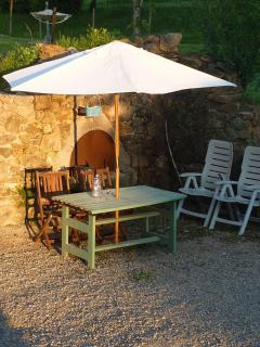 Another seating area by the bread over - great for the last sun of the day