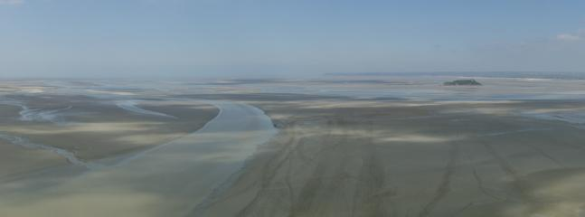 A panoramic view from Mont Saint-Michel