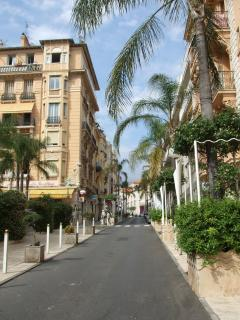 Beausoleil - Belle epoque buildings and palm tree lined road