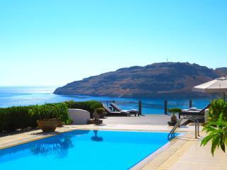 Villa Kalliopi enjoys sensational sea views across Vlicha Bay near Lindos