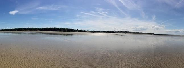 Tide at Ryde goes out as far as the eye can see.