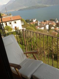 Second balcony outside master bedroom