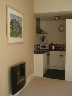 The well equipped kitchenette. Dishwasher, fridge, freezer, washing machine and microwave etc.