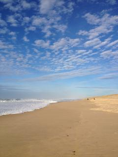 The endless sky and beach of the Landes coast