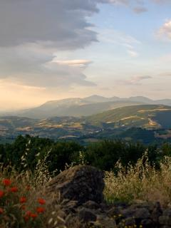 View of Sibillini Mountains