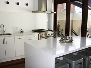 Sparkling white new kitchen