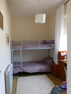 Bunk beds in the smaller third bedroom