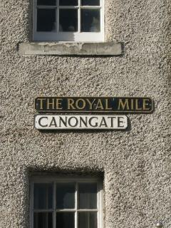 Canongate is the lower, Eastern end of the historic Royal Mile