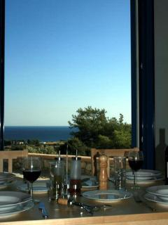 Dining table and sea view