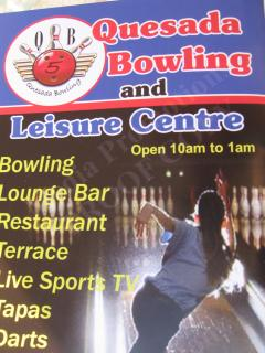 or why not try out the new bowling and leisure centre just open in quasada