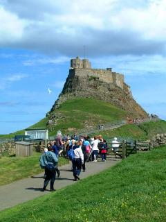 Lindisfarne Castle can be seen from apartment