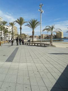 Torrevieja sea front in January 14
