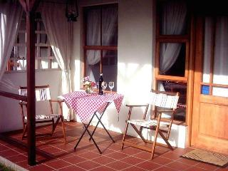 Each chalet has its own porch