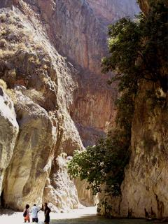Saklikent Gorge is amazing and a visit is included on a jeep safari