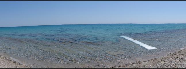 Access to the beach in Mola Kalyva