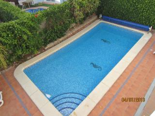 view of the swimming pool from roof terrace