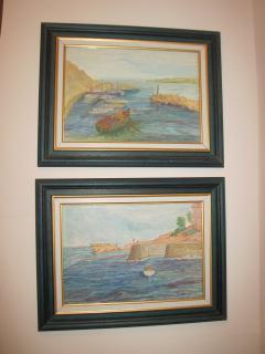Water colours of Gozo scenes