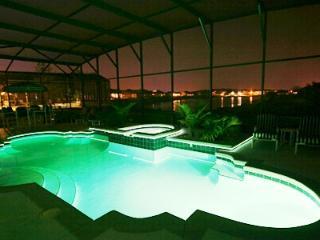 Night Time Pool Green