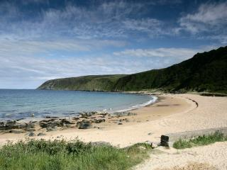 The beautiful Kinnagoe bay beach - 1km from house
