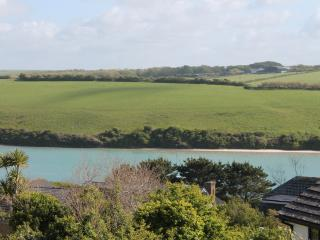 FISTRAL  BEACH AREA with glimpses over River gannel, Newquay
