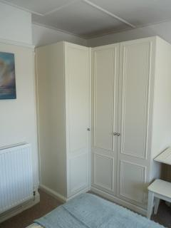Fitted wardrobes in twin bedroom