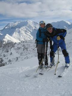 Incredible views of Mt Blanc as you ski the local resorts