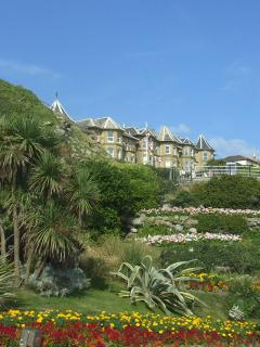 View across the 'cascades' to Alexandra Gardens, Ventnor