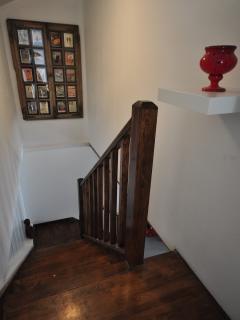 Stairway up to the Master bedroom