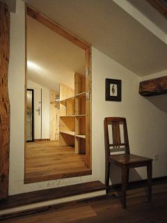 Master bedroom walk in wardrobe.
