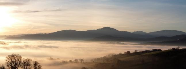 A misty morn promises a hot day ahead...
