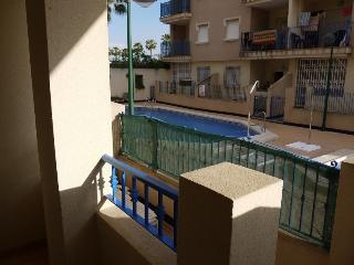 A view of the pool from our balcony area, so it is easy to keep watch on children whilst in the pool