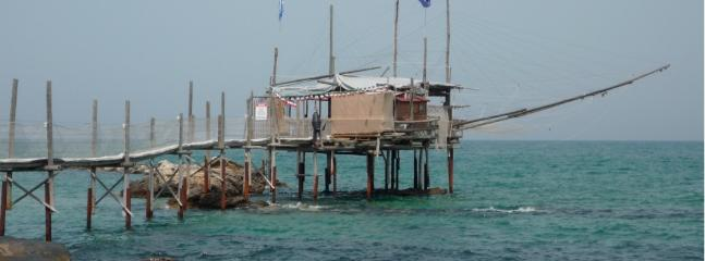 Traditional fishing platforms line our stretch of the Adriatic coast