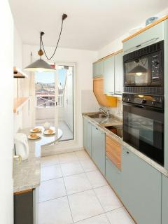 Galley style fully equipped kitchen