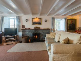 Dry logs are always provided for the lovely open fire, as many as you need. BQ has Sky + Sports tv.