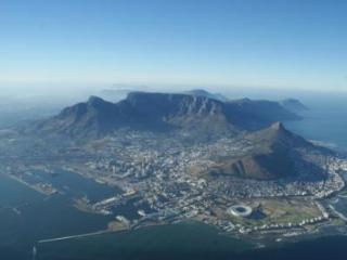 Table Mountain With Stadium in the foreground