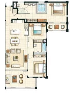 Floor Plan of units 141/142
