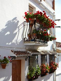 Pretty little very Spanish village of Alcaucin close by with local bars and restaurants ..