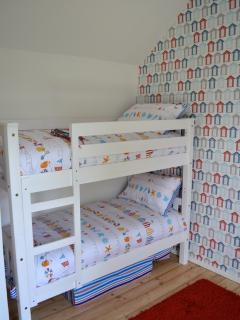 Bunk bed room. Single Zbed also provided.